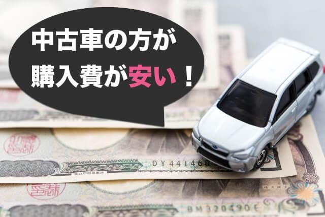 車を購入するときの金額は新車よりも中古車の方が安い